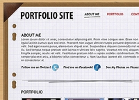 Free PSD Portfolio Layout